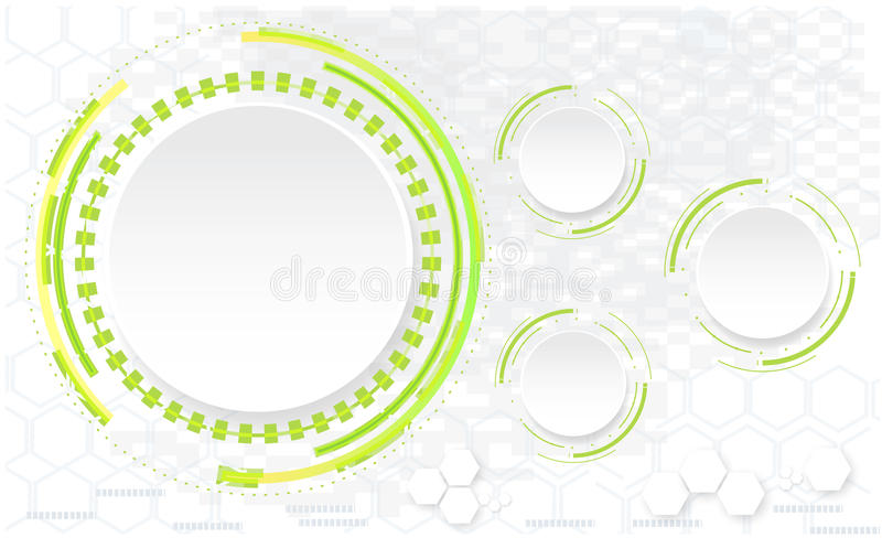 Abstract technology circles vector background royalty free illustration