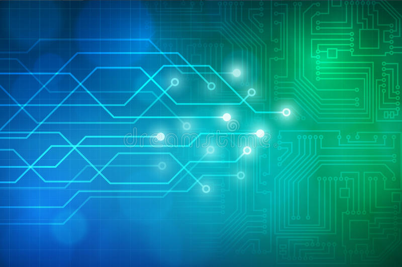 Abstract technology circuit board background. Layered stock illustration