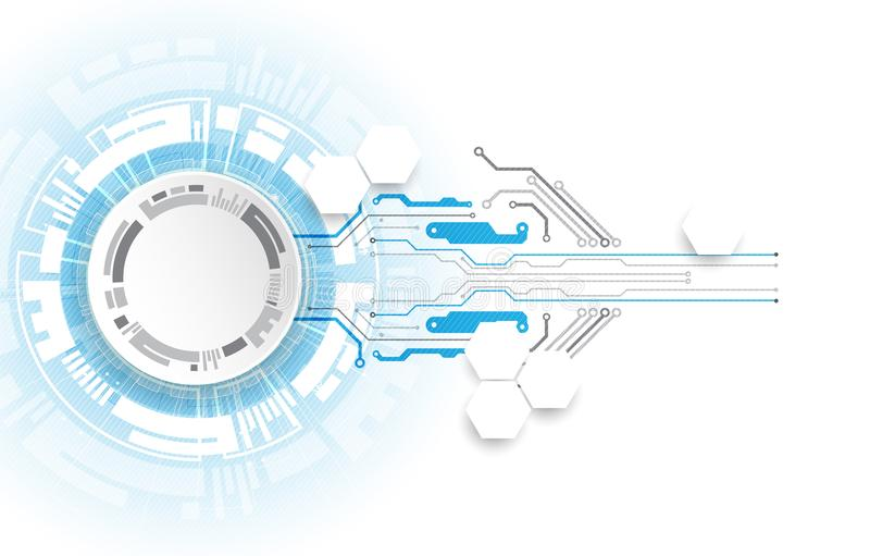 Abstract technology circuit board. Communication concept stock illustration