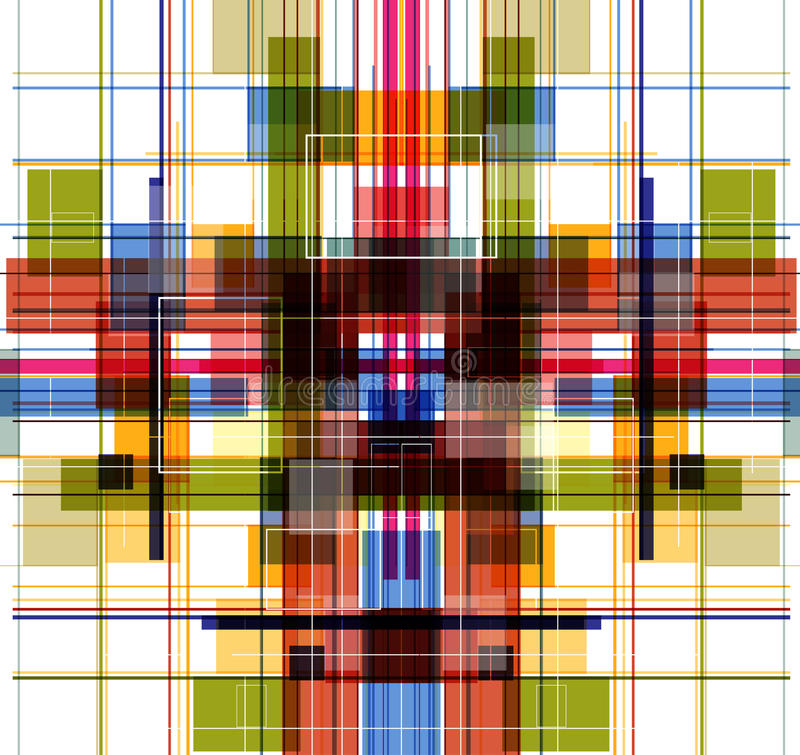 Abstract Technology Color Fly Fractal Royalty Free Stock Images