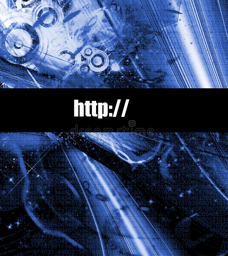 Abstract technology company webpage vector illustration