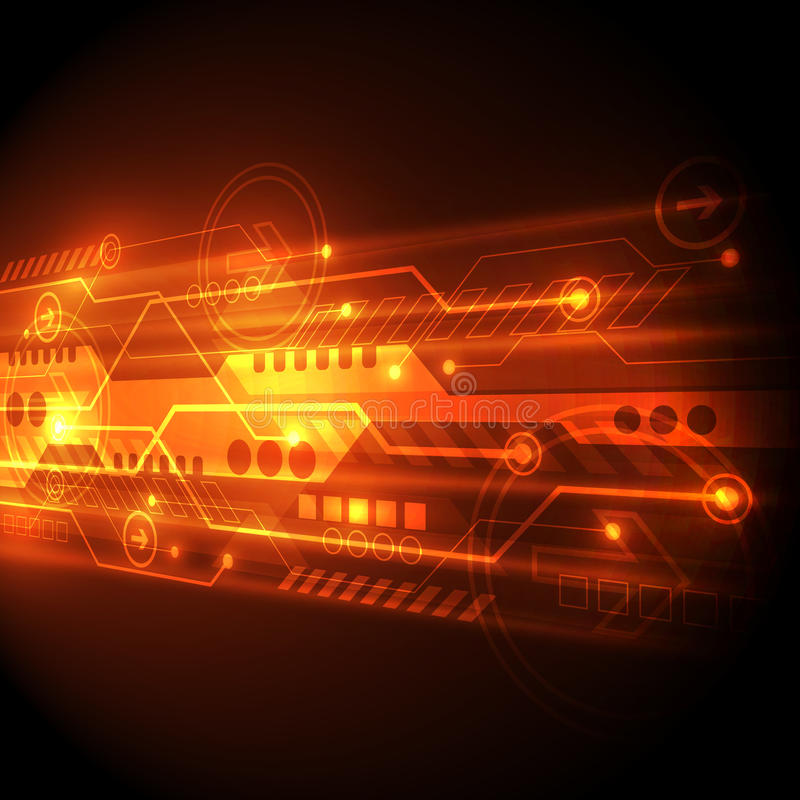 Abstract technology concept background, vector illustration stock illustration
