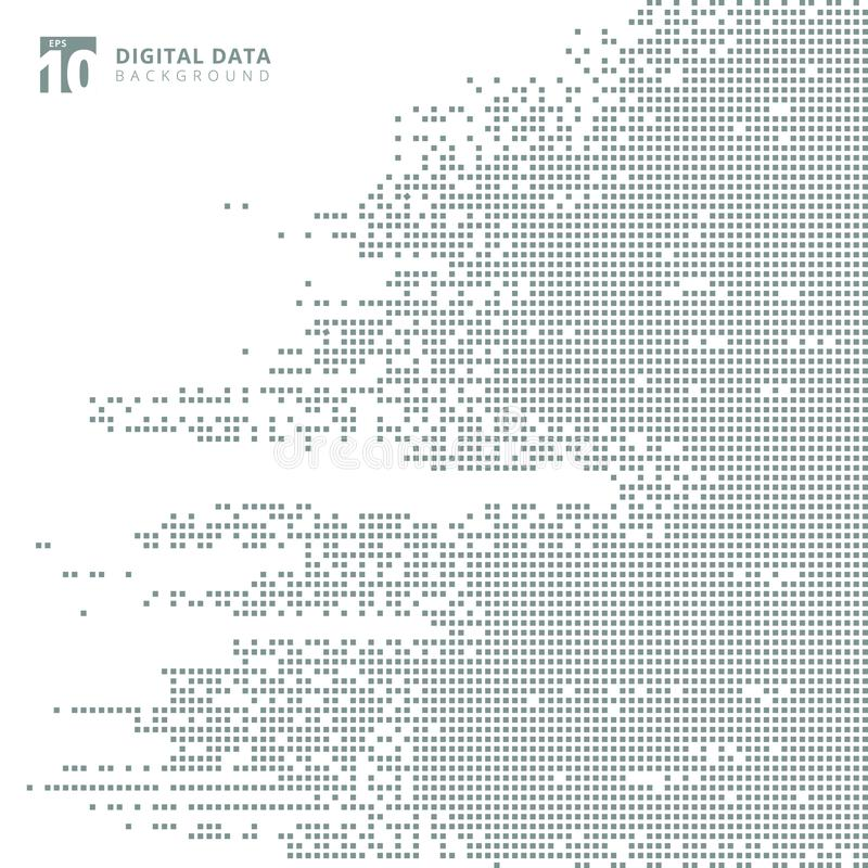 Free Abstract Technology Digital Data Square Gray Pattern Pixel Background. Royalty Free Stock Photography - 111545987