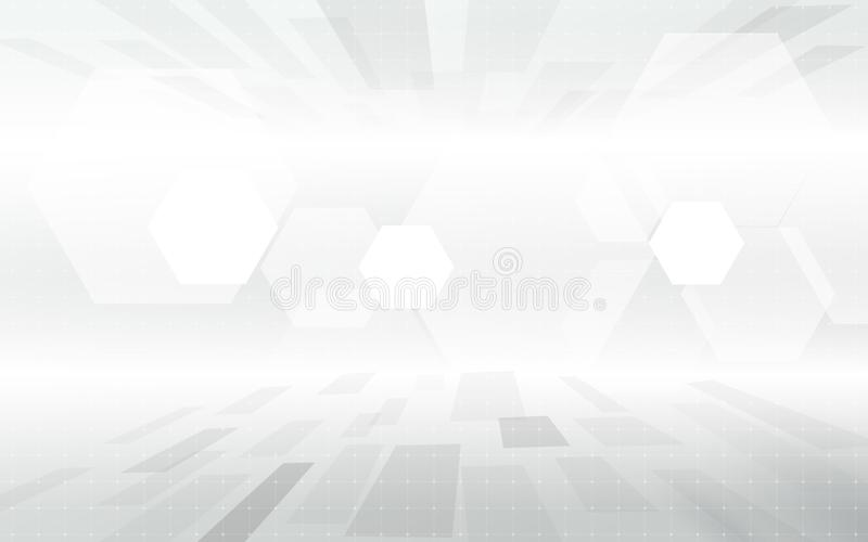 Abstract technology digital hi tech geometric gray color concept background. Space for your text. vector illustration