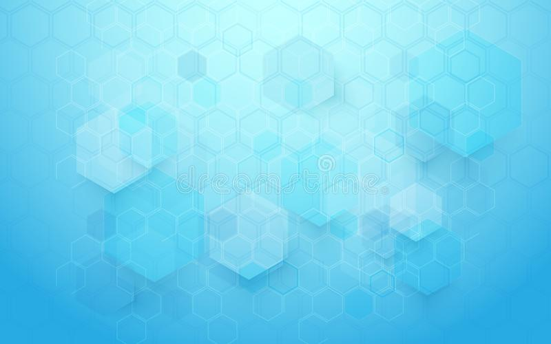 Abstract technology digital hi tech hexagons concept background. Space for your text vector illustration