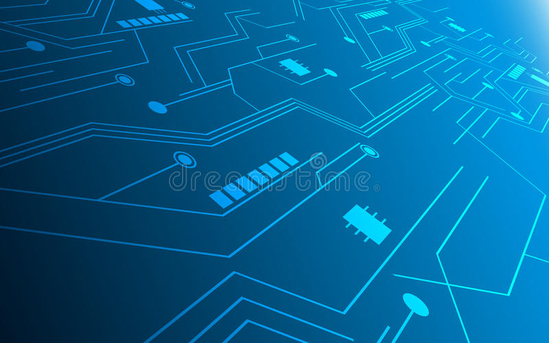 Abstract technology future innovation concept circuit hi tech pattern design background. Eps 10 vector stock illustration