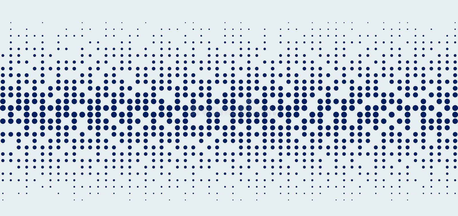 Abstract technology futuristic style big data blue geometric circle pattern on white background and texture vector illustration