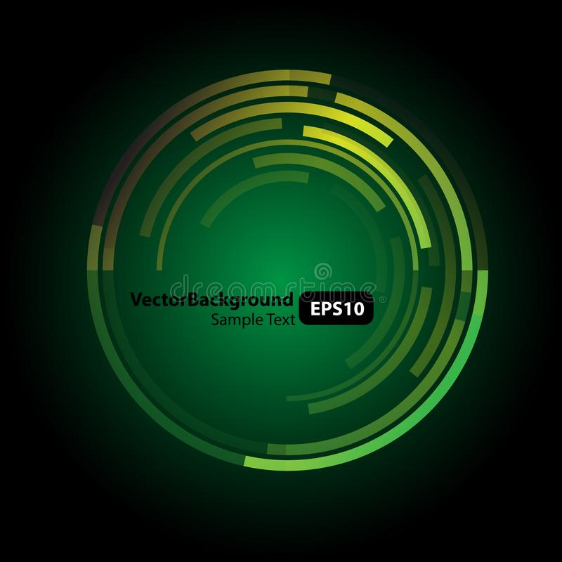 Abstract technology green circles background. Is a general illustration royalty free illustration