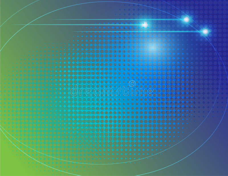 Abstract technology halftone dot curve vector background. Line curve geometry with shinny point light represent technology background vector illustration