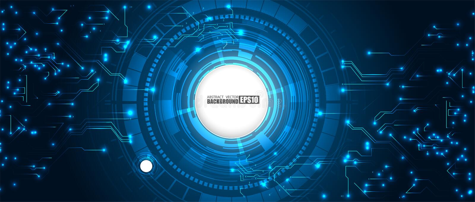 Abstract technology HUD background Hi-tech communication concept futuristic digital innovation background vector illustration