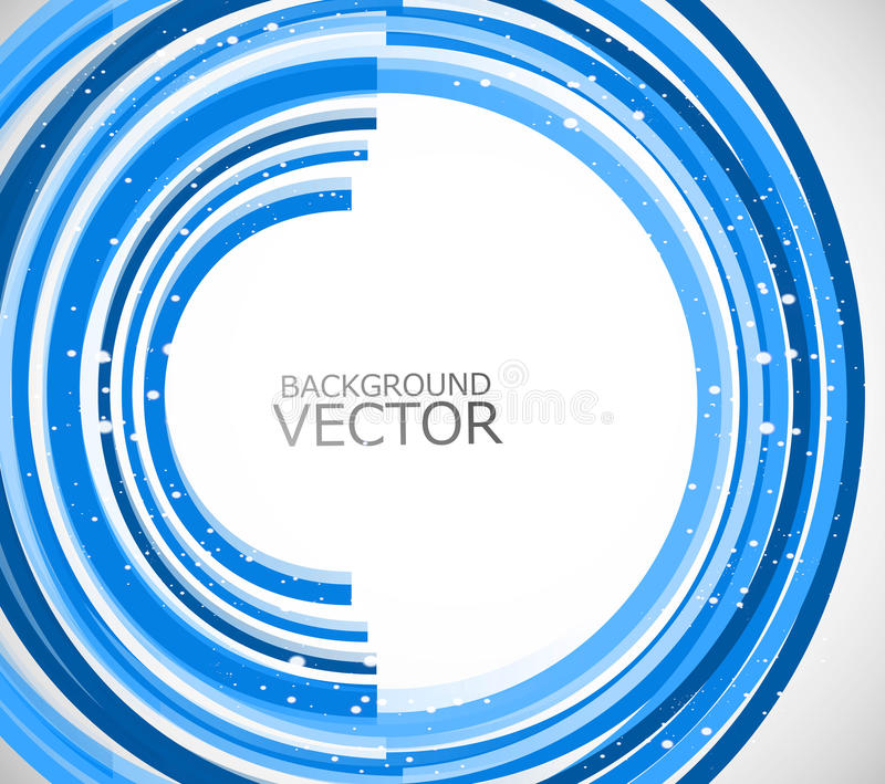 Abstract technology lines blue circle