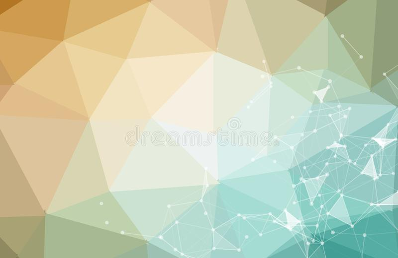 Abstract technology science background concept beautiful colorful connection digital geometric lines and dot communication connect vector illustration