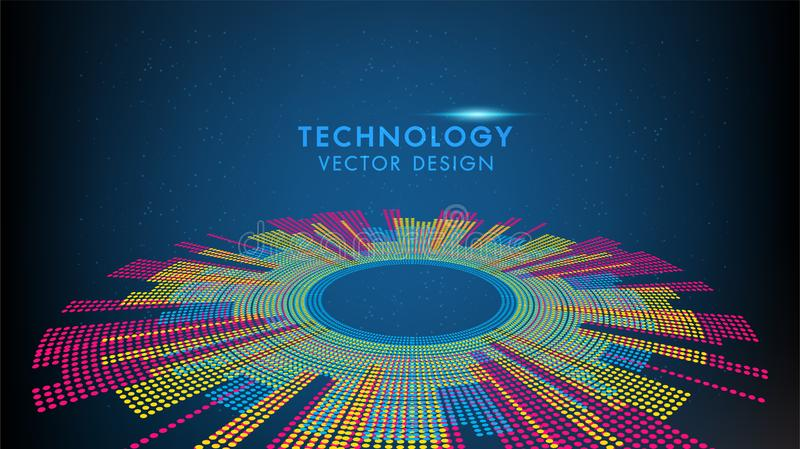 Abstract technology and science world, Colorful earth graphic design can be used for business infographics. Abstract technology and science world, Colorful royalty free illustration