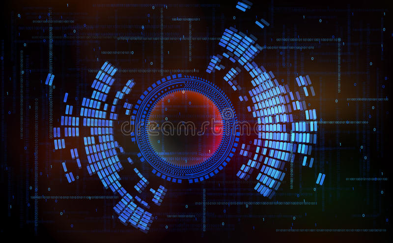 Abstract technology-style background-code zero one stock illustration