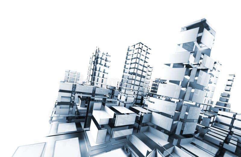 De samenvatting van de architectuur. royalty-vrije illustratie