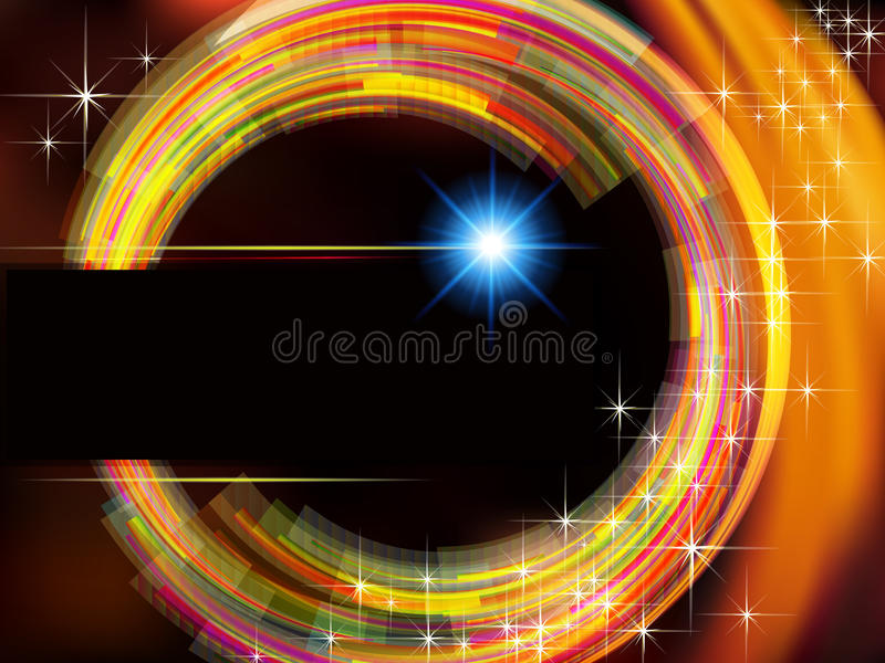 Abstract technology background with fire circle a royalty free illustration