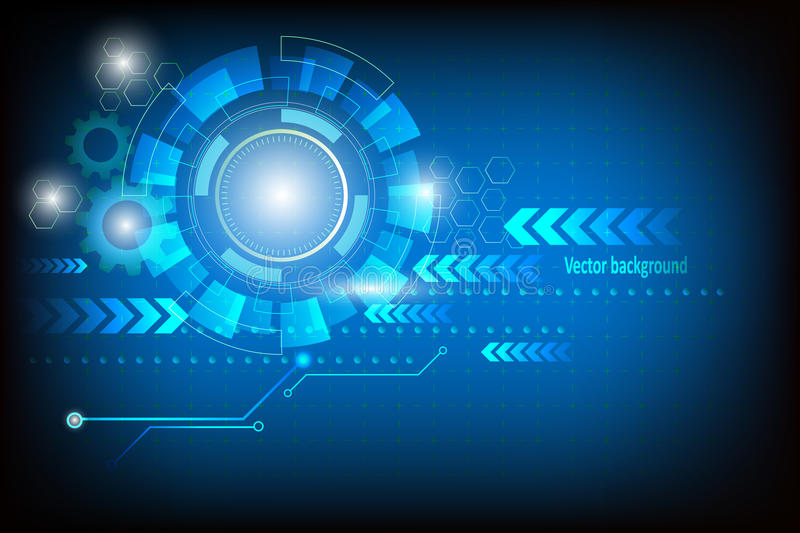Abstract technology vector background glow in dark. Abstract technology vector background blue royalty free illustration