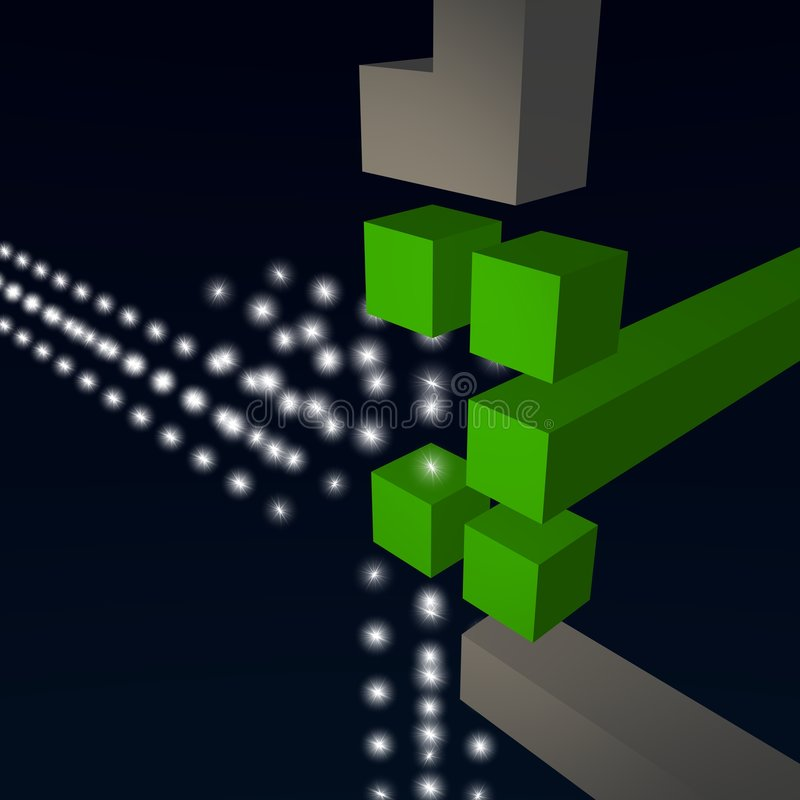 Download Abstract Telecommunication Knode 3d With Stars Stock Illustration - Image: 8376007