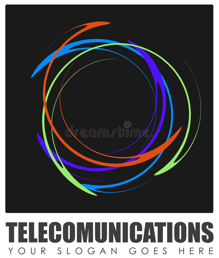 Abstract telecommunications sign vector illustration