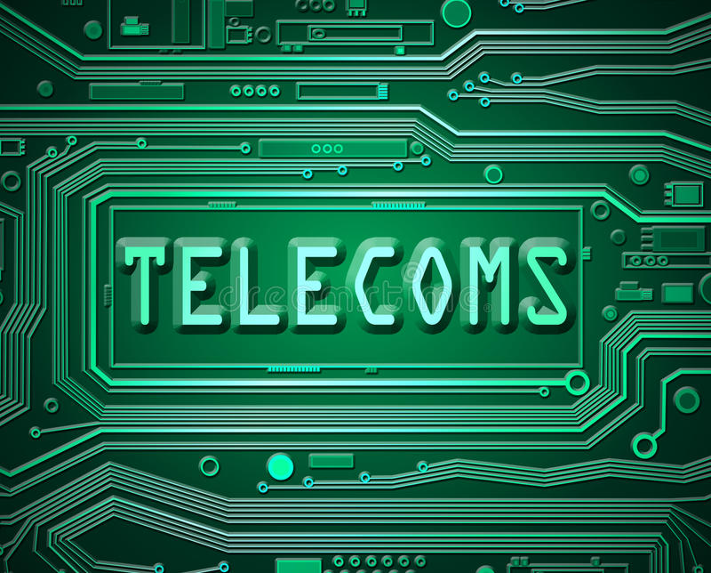 Abstract telecoms concept. stock illustration