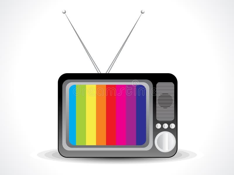 Abstract televisiepictogram stock illustratie