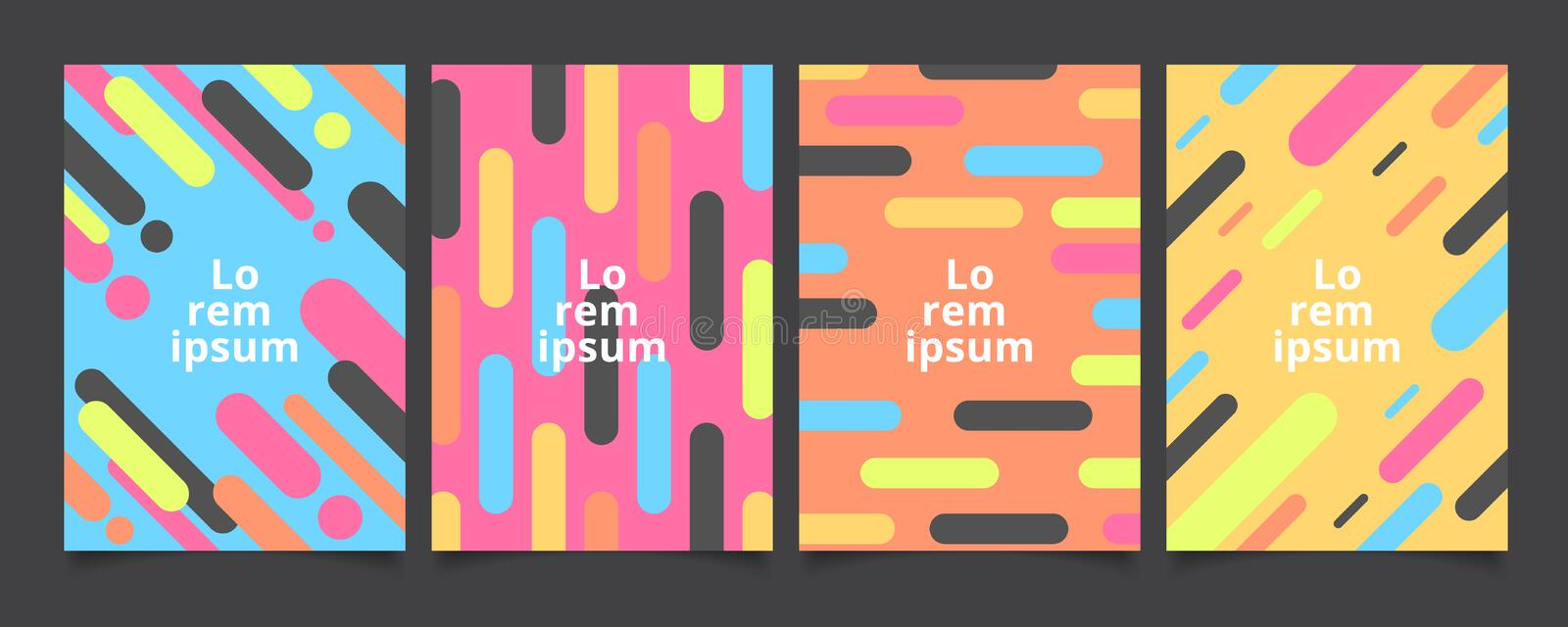 Abstract template background covers with flat geometric pattern royalty free illustration