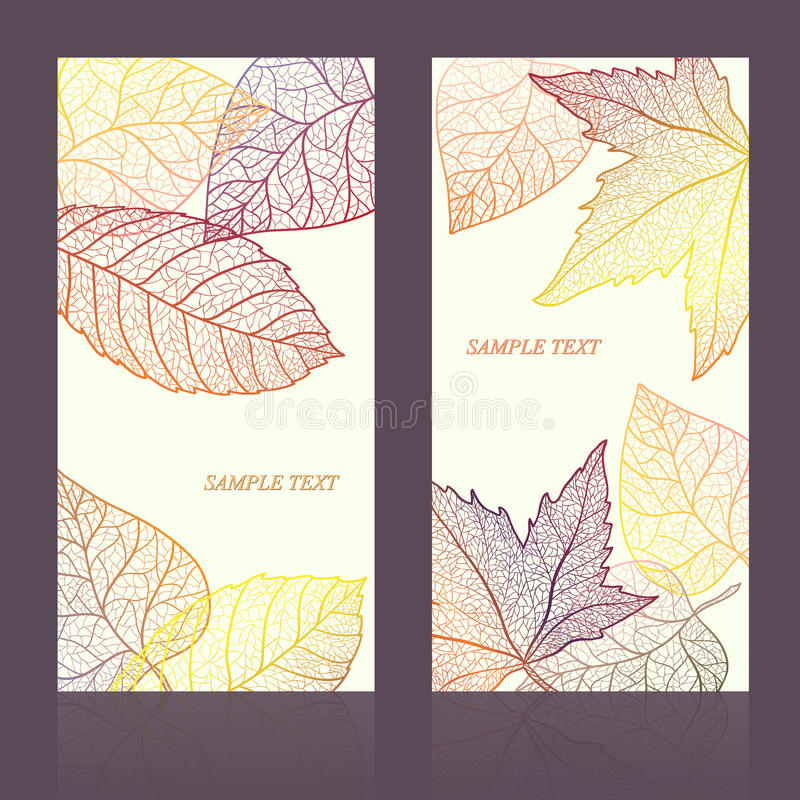 Abstract template card with autumn leaves and your text for background. Layered . stock photography