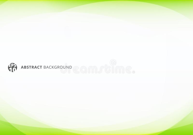 Abstract template elegant header and footers green lime curve light template on white background with copy space royalty free illustration