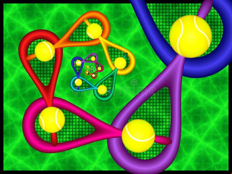 Abstract Tennis Fractal stock illustration