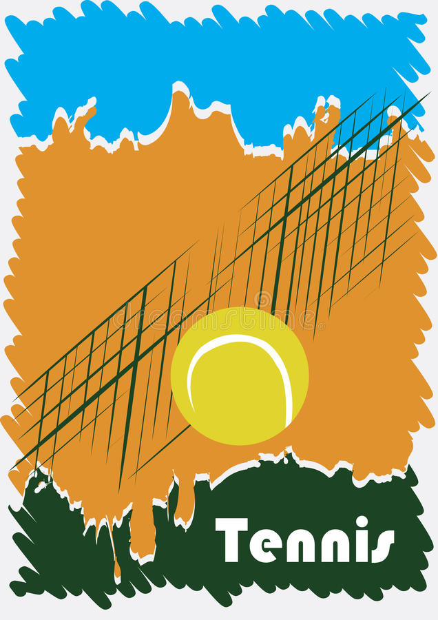 Abstract tennis poster vector illustration