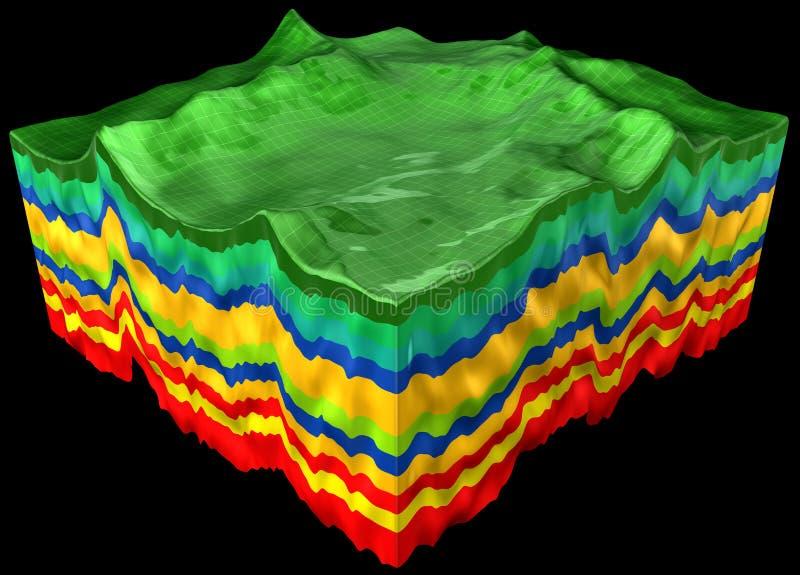 Abstract terrain stock illustration