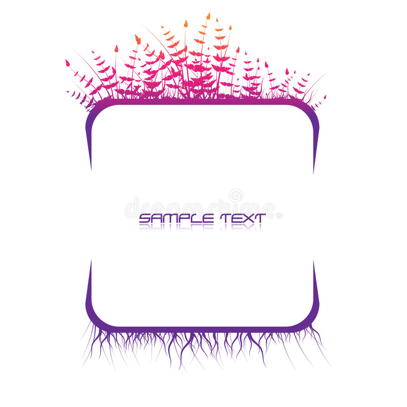 Abstract text panel vector illustration