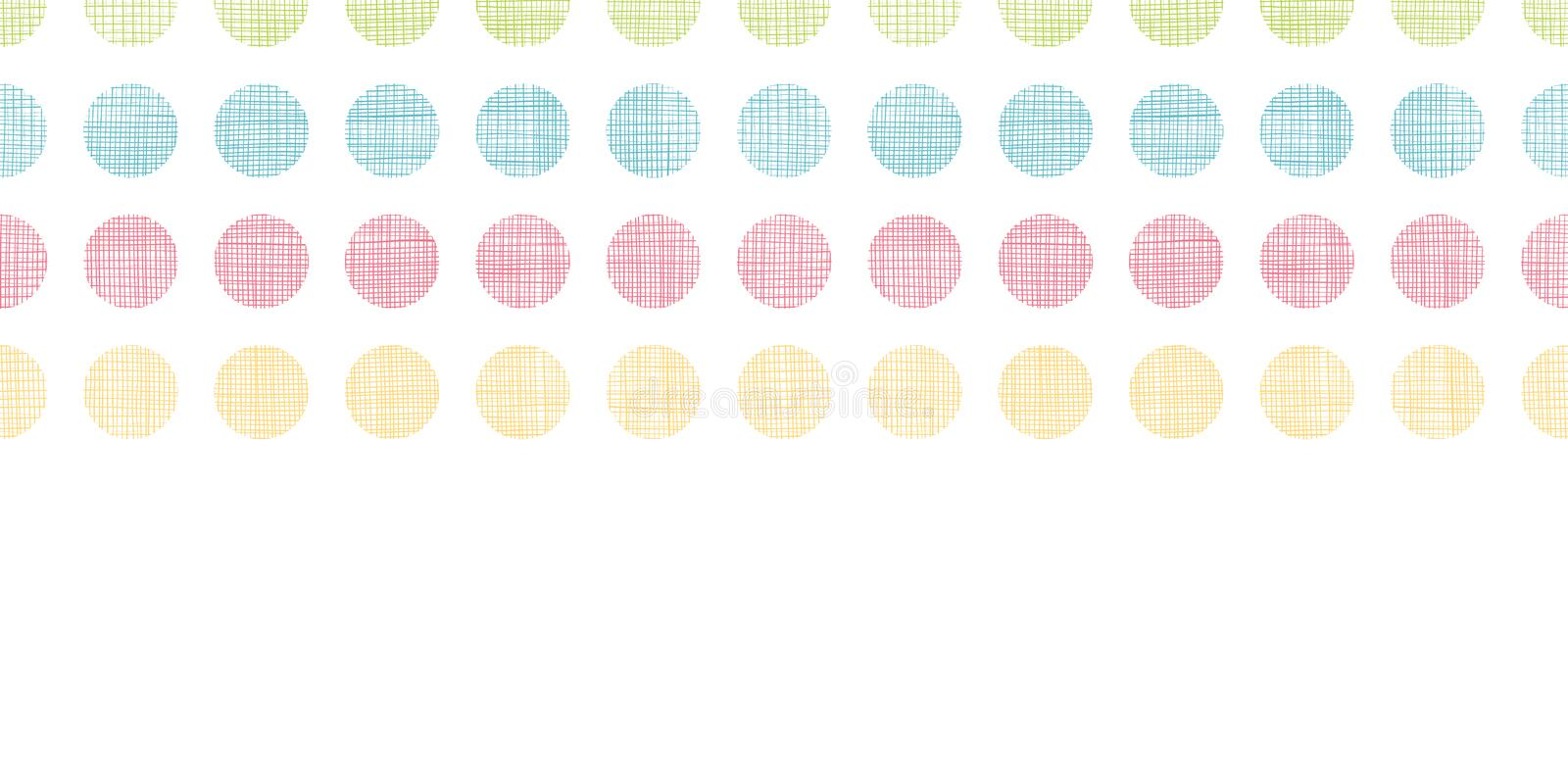 Abstract textile polka dots stripes horizontal seamless pattern background royalty free illustration