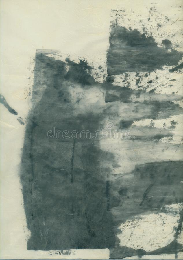 Abstract Textural Paper Arts Collage Painting With Grey Tones stock photography
