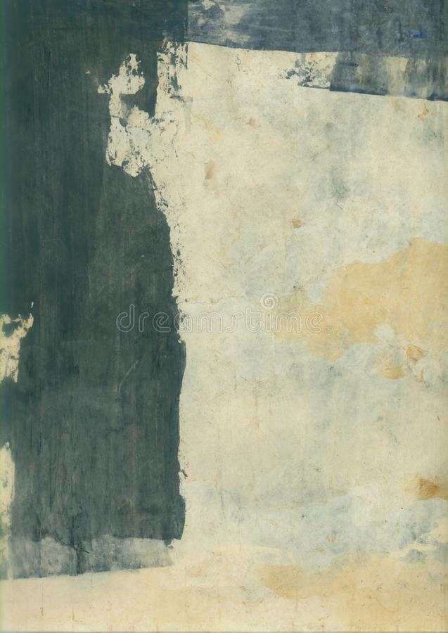 Abstract Textural Paper Arts Collage Painting With Grey Tones royalty free stock images