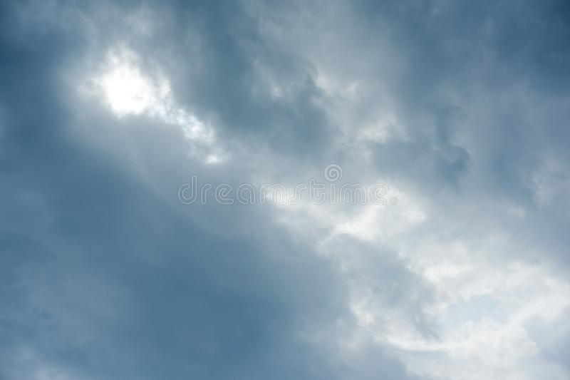 Abstract texture background, cloudy sky before the rain stock photography