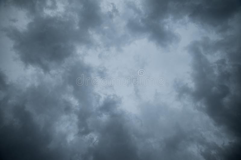 Abstract texture background of Dark sky with storm clouds.  royalty free stock image