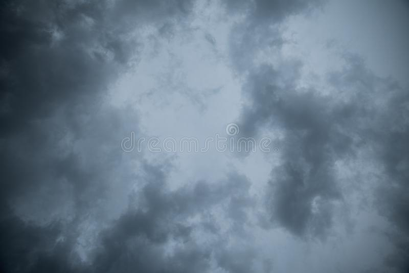 Abstract texture background of Dark sky with storm clouds.  royalty free stock photography