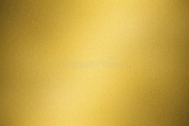 Abstract texture background, shiny gold metal wall stock image
