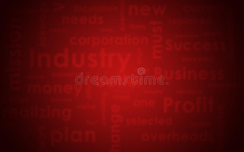 Abstract texture. Blured business words and red. Abstract texture of blured business words and red painted concrete wall royalty free stock images