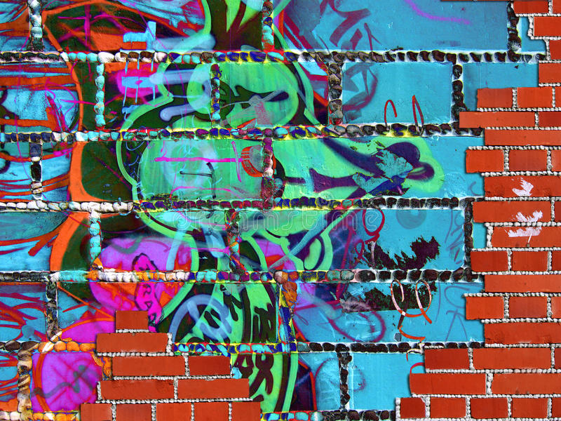 Abstract texture with bricks stock image
