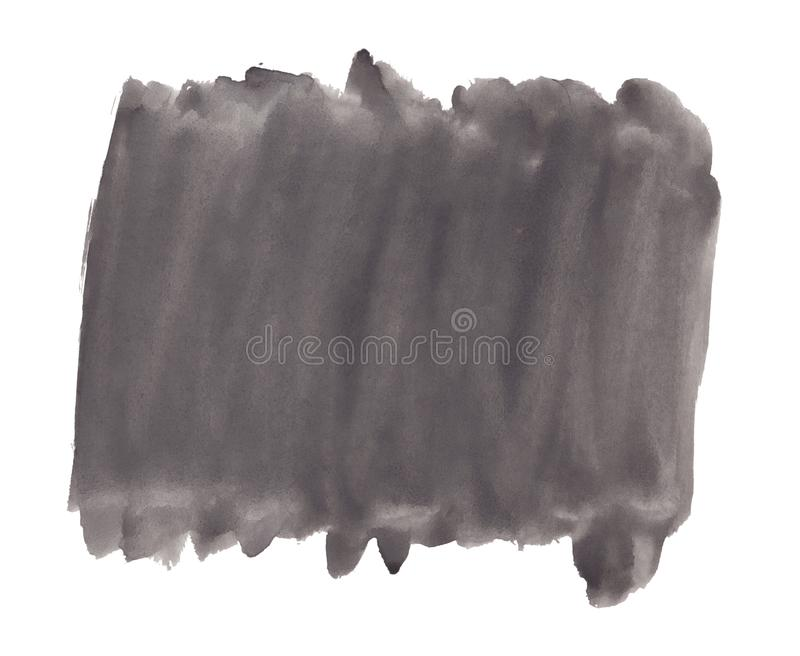 Abstract texture brush ink background black aquarell watercolor splash paint on white background. Abstract texture brush ink background black aquarell watercolor royalty free stock images