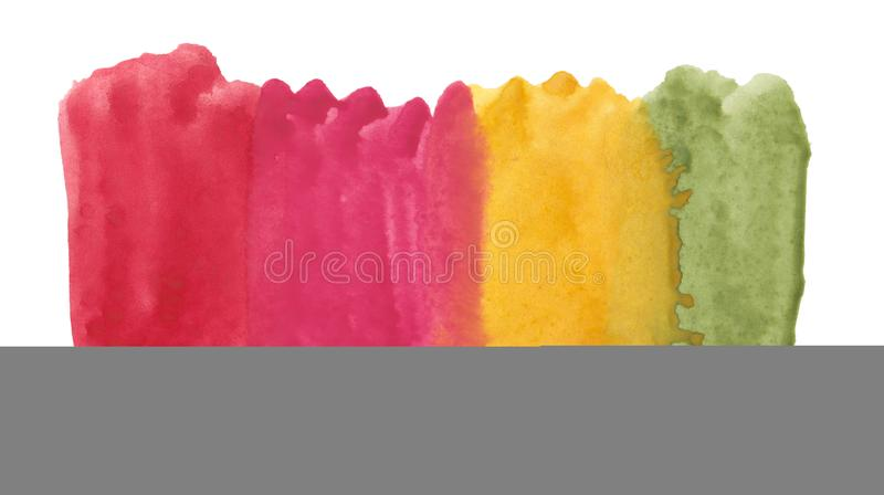 Abstract texture brush ink background multicolored aquarell watercolor splash paint on white background. Abstract texture brush ink background multicolored royalty free stock photo