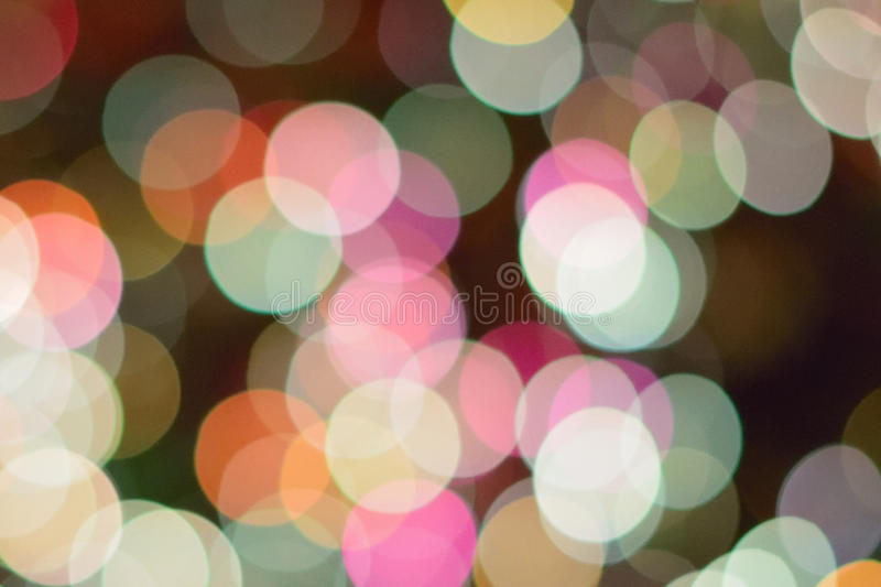 Abstract texture of colorful Christmas lights background blurs royalty free stock photography