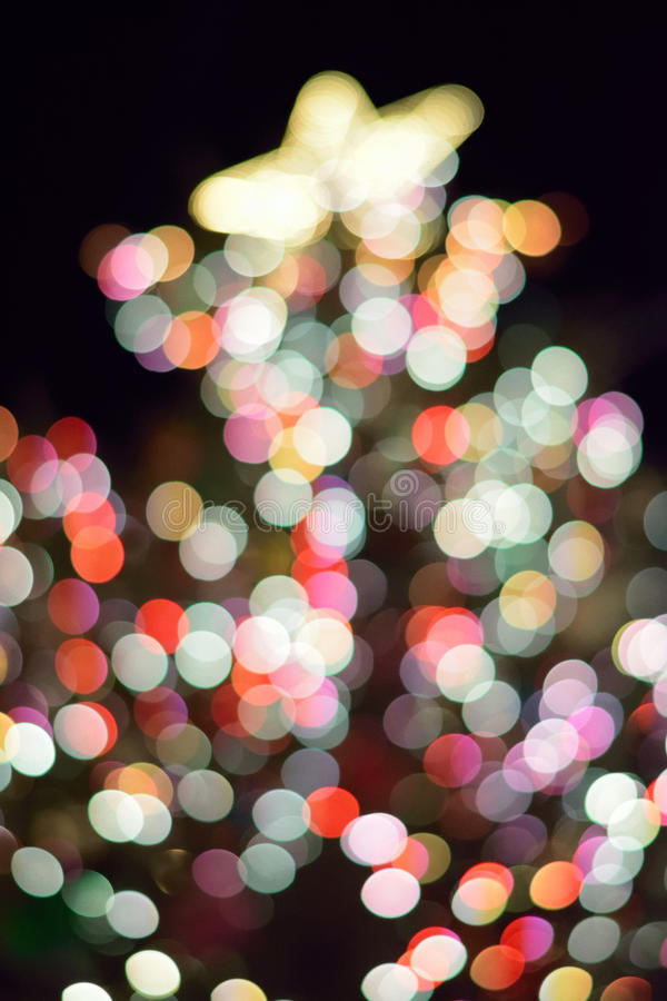 Abstract texture of colorful Christmas lights background blurs royalty free stock image