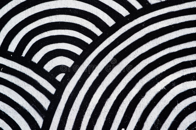 Abstract texture, concentric black and white circles royalty free stock photography