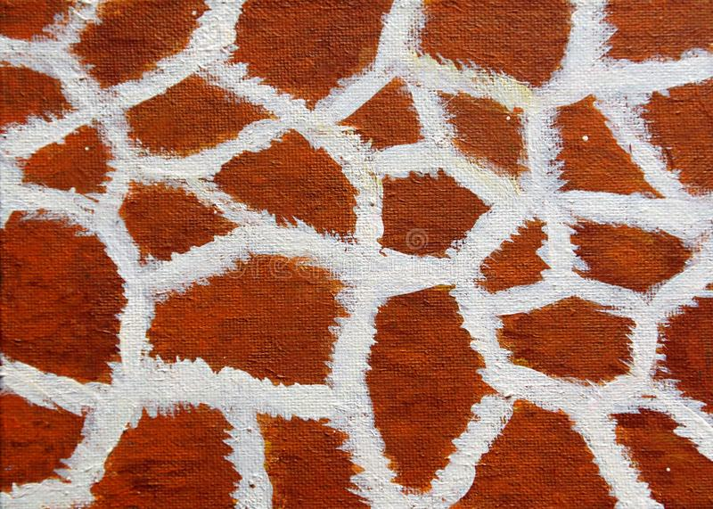 Abstract texture of giraffe`s skin vector illustration
