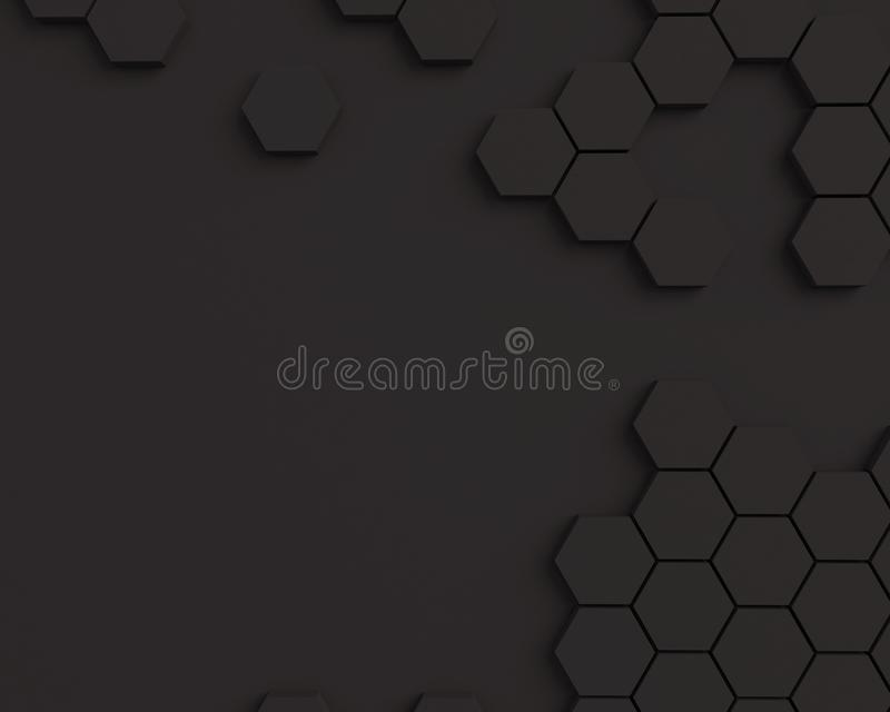 Abstract texture honeycomb. Black hexagonal pattern texture background with place for text. Abstract texture honeycomb. Black hexagonal pattern texture royalty free illustration