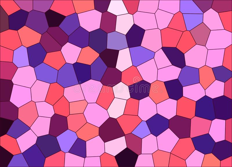 Abstract texture, pink color pixels. Multi-colored mosaic illustration royalty free illustration