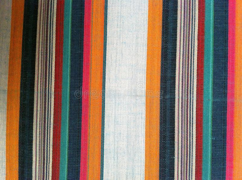 Abstract texture plaid cotton fabric of colorful background royalty free stock photo